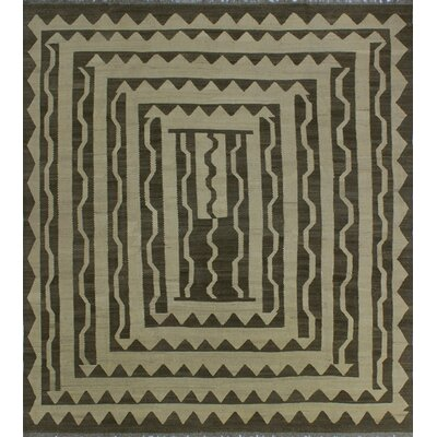 One-of-a-Kind Milliman Kilim Summer Hand-Woven Wool Ivory Area Rug