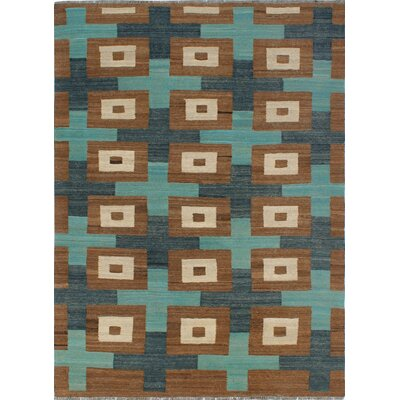 One-of-a-Kind Milliman Kilim Hannah�Hand-Woven Wool Brown Area Rug