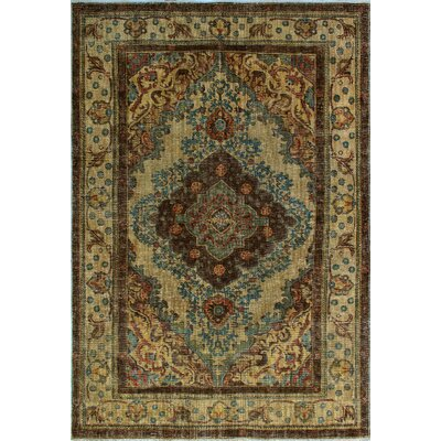 One-of-a-Kind Millikan Distressed Overdyed Austen Hand-Knotted Wool Brown Area Rug