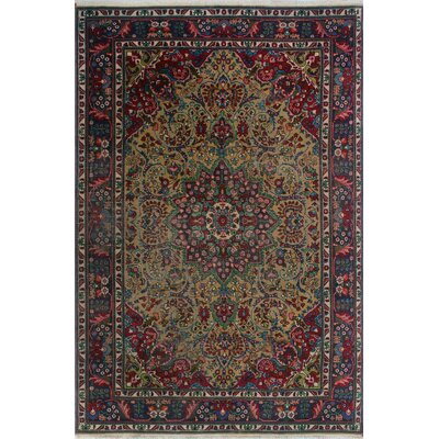 One-of-a-Kind Millikan Distressed Calvin Hand-Knotted Wool Beige Area Rug