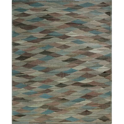 One-of-a-Kind Milliman Kilim Lacey Hand-Woven Wool Chocolate Area Rug