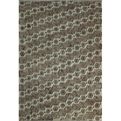 One-of-a-Kind Milliman Kilim Anna�Hand-Woven Wool Ivory Area Rug