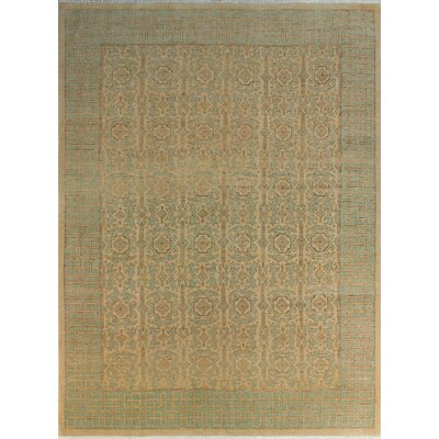 One-of-a-Kind Gorman Fine Chobi Cynthia Hand-Knotted Wool Beige Area Rug