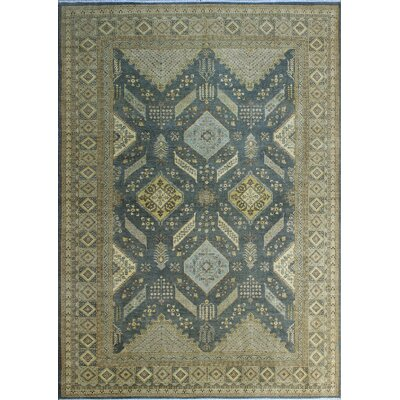 One-of-a-Kind Gorman Fine Chobi Kathleen Hand-Knotted Wool Gray Area Rug
