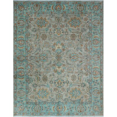 One-of-a-Kind Gorman Fine Chobi Malawa Hand-Knotted Wool Gray Area Rug