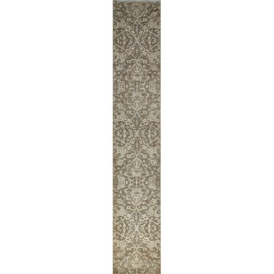 One-of-a-Kind Gorman Fine Chobi Amir Hand-Knotted Ivory Area Rug