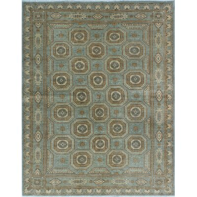 One-of-a-Kind Gorman Fine Chobi Folami Hand-Knotted Wool Gray Area Rug