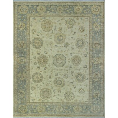 One-of-a-Kind Gorman Fine Chobi Karley Hand-Knotted Wool Ivory Area Rug
