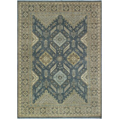 One-of-a-Kind Gorman Fine Chobi Boseda Hand-Knotted Wool Gray Area Rug