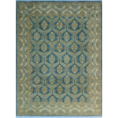 One-of-a-Kind Gorman Fine Chobi Mashika Hand-Knotted Wool Blue Area Rug