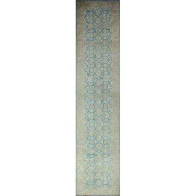 One-of-a-Kind Gorman Fine Chobi Adebayo Hand-Knotted Wool Blue Area Rug