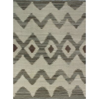 One-of-a-Kind Milliman Kilim Oluyemi Hand-Woven Wool Ivory Area Rug