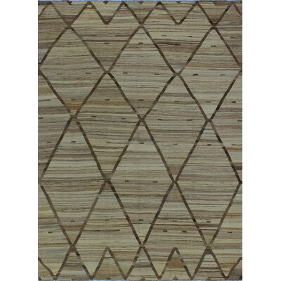 One-of-a-Kind Milliman Kilim Afryea Hand-Woven Wool Beige Area Rug