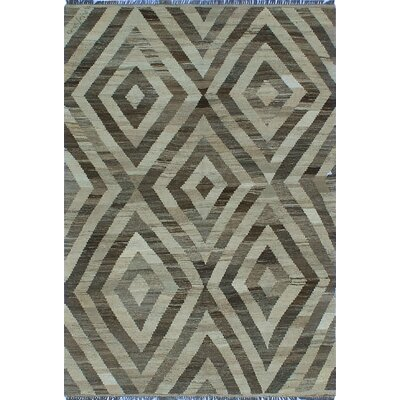 One-of-a-Kind Milliman Kilim Suma Hand-Woven Wool Ivory Area Rug