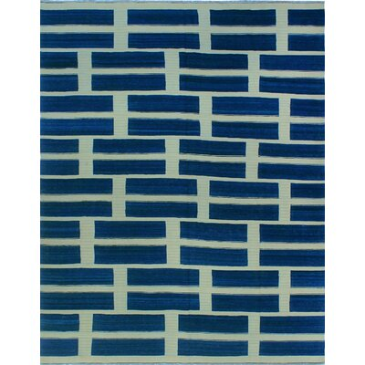 One-of-a-Kind Milliman Kilim Darcie Hand-Woven Wool Blue Area Rug
