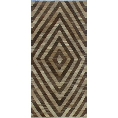 One-of-a-Kind Milliman Kilim Abebi Hand-Woven Wool Ivory Area Rug