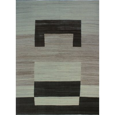 One-of-a-Kind Milliman Kilim Hollie Hand-Woven Wool Ivory Area Rug
