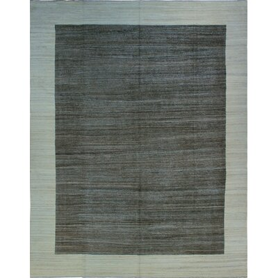 One-of-a-Kind Milliman Kilim Chinua Hand-Woven Wool Gray Area Rug