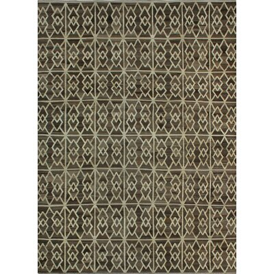 One-of-a-Kind Milliman Kilim Chausiki Hand-Woven Wool Beige Area Rug