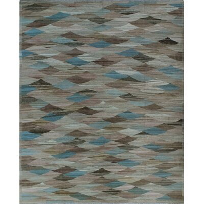 One-of-a-Kind Milliman Kilim Lottie Hand-Woven Wool Brown Area Rug