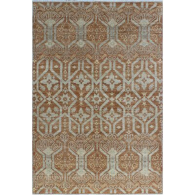 One-of-a-Kind Gorman Fine Chobi Bethany Hand-Knotted Wool Gold Area Rug