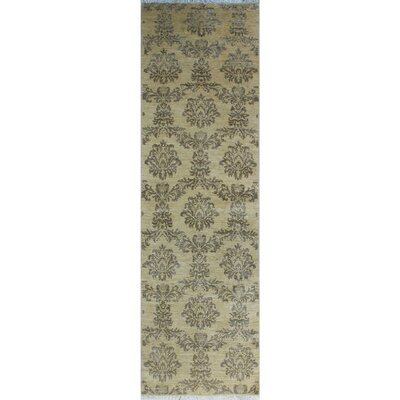 One-of-a-Kind Gorman Fine Chobi Francesca Hand-Knotted Wool Ivory Area Rug