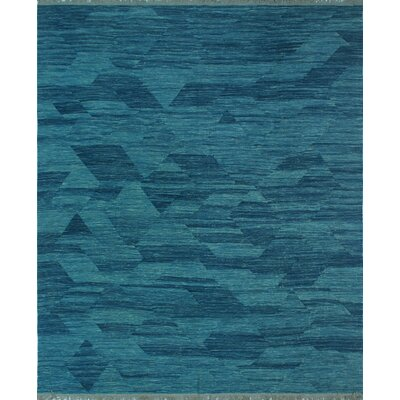 One-of-a-Kind Milliman Kilim Antony Hand-Woven Wool Blue Area Rug