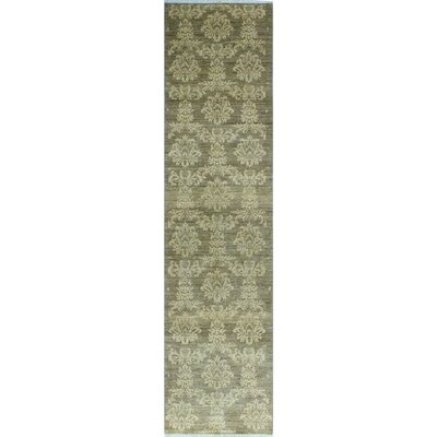 One-of-a-Kind Gorman Fine Chobi Harper Hand-Knotted Wool Beige Area Rug