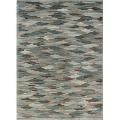 One-of-a-Kind Milliman Kilim Chuki Hand-Woven Wool Chocolate Area Rug