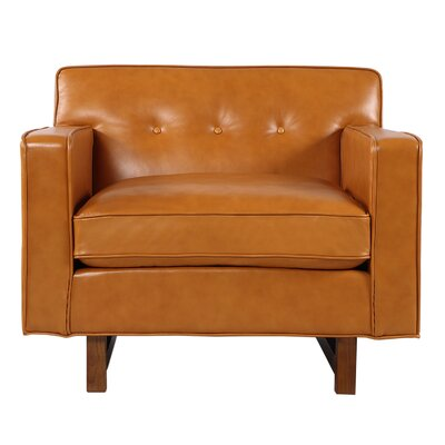 Dinger Club Chair Body Fabric: Tan Aniline