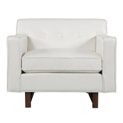 Dinger Club Chair Body Fabric: White Aniline