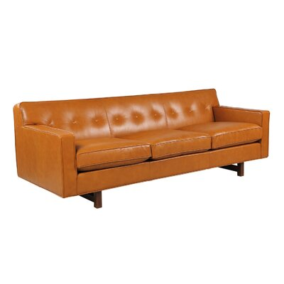 Dinger Leather Sofa Body Fabric: Tan Aniline