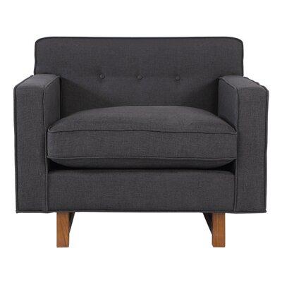 Dinger Club Chair Body Fabric: Urban Ink Twill