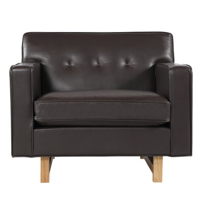 Dinger Club Chair Body Fabric: Brown Aniline
