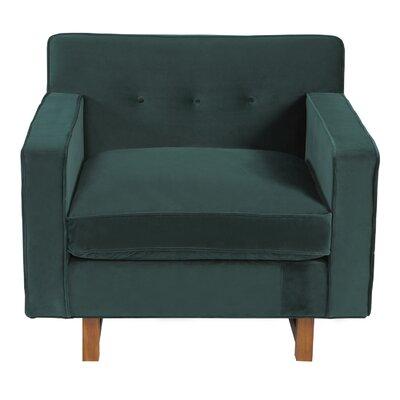 Dinger Club Chair Body Fabric: Jade Plush Velvet