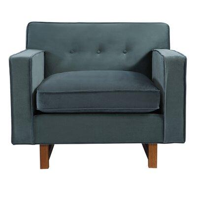 Dinger Club Chair Body Fabric: Neptune Plush Velvet