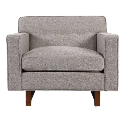 Dinger Club Chair Body Fabric: Urban Pebble Twill