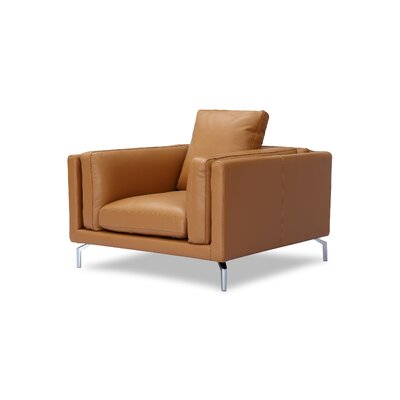 Tia Loft Armchair Body Fabric: Saddle Aniline