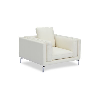 Tia Loft Armchair Body Fabric: White Aniline