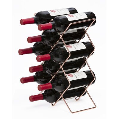 Roe 10 Bottle Tabletop Wine Rack Finish: Rose Gold
