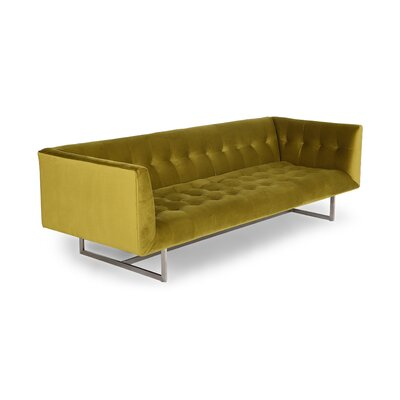 Shaner Sofa Body Fabric: Olive Plush Velvet