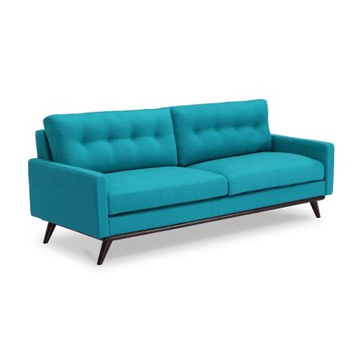 Dingler Sofa Body Fabric: Turquoise Wool