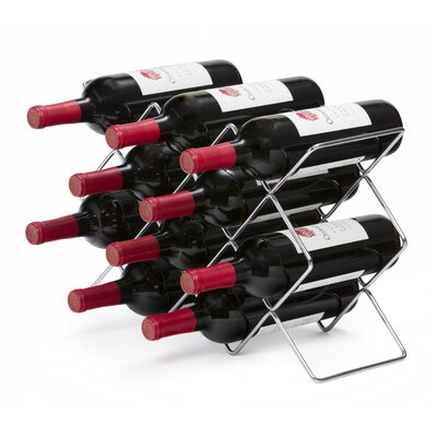 Roe 10 Bottle Tabletop Wine Rack Finish: Silver