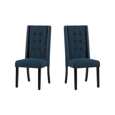 Arrigo Upholstered Dining Chair Upholstery: Azure