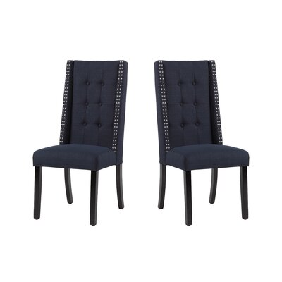 Arrigo Upholstered Dining Chair Upholstery: Midnight