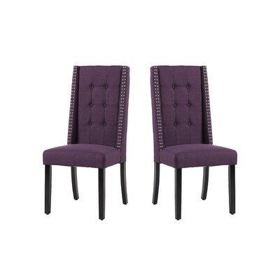Arrigo Upholstered Dining Chair Upholstery: Aubergine