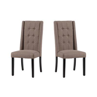 Arrigo Upholstered Dining Chair Upholstery: Dolphin