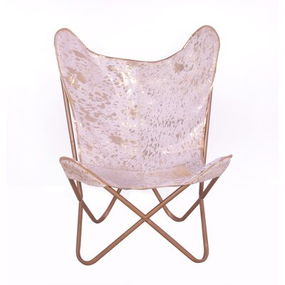 Murray Hill Glam Hide Side Lounge Chair