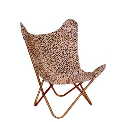 Merseles Cheetah Print Butterfly Lounge Chair