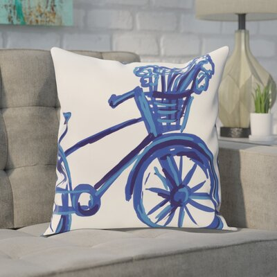 Chesser Outdoor Throw Pillow Color: Dazzling Blue, Size: 20 H x 20 W x 1 D